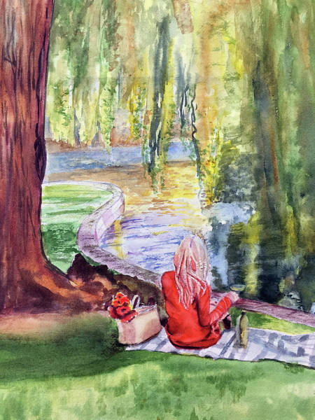 Public Garden Picnic Art Print