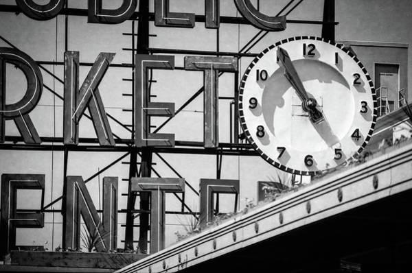 Photograph - Public Market Clock by Ross Henton