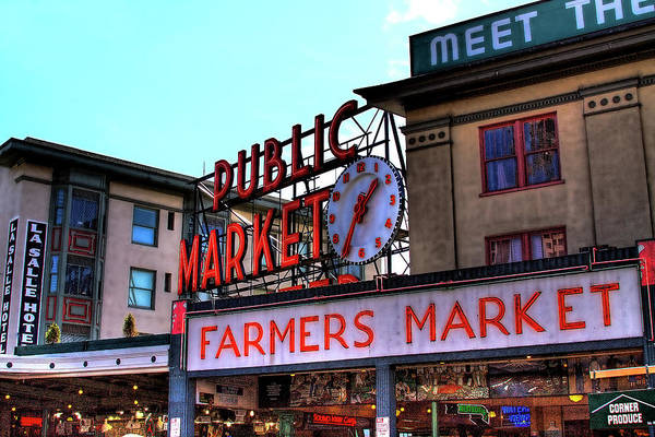 Pikes Place Wall Art - Photograph - Public Market II by David Patterson