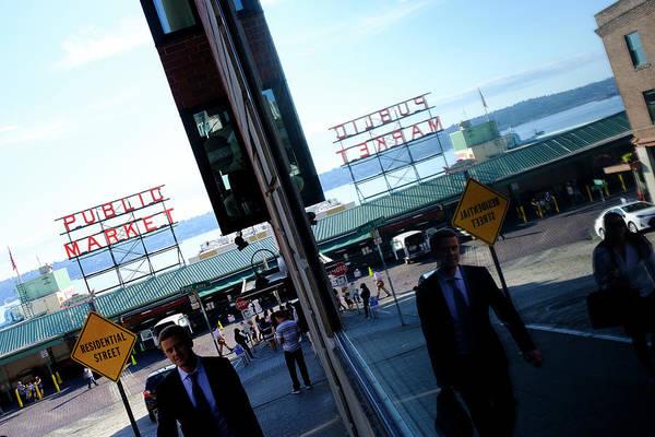 Public Market In Seattle Washington Art Print