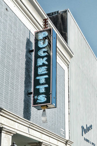 Photograph - Pucketts Sign by Sharon Popek