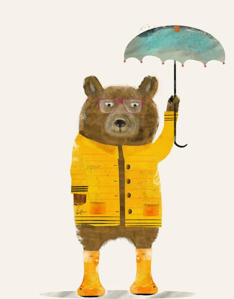 Cub Painting - Puddle Bear by Bri Buckley