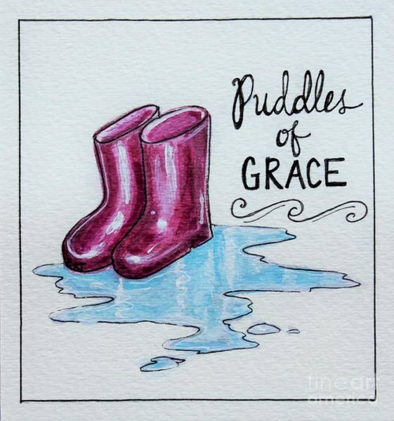 Painting - Puddles Of Grace by Elizabeth Robinette Tyndall