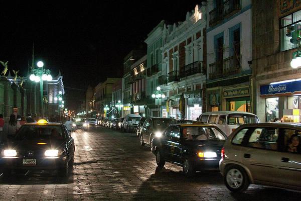 Photograph - Puebla At Night 1 by Lee Santa