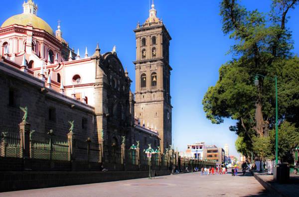 Photograph - Puebla Cathedral  by Lee Santa