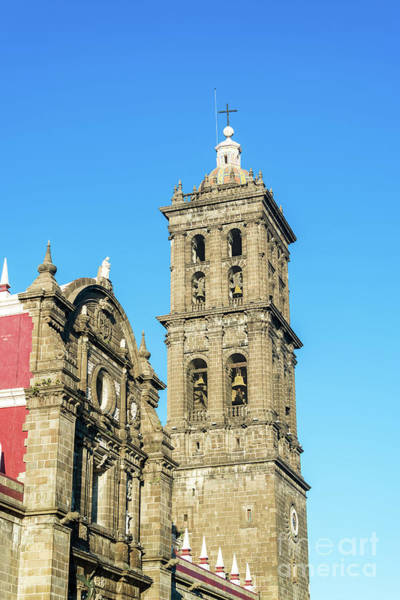 Wall Art - Photograph - Puebla Cathedral Spire by Jess Kraft