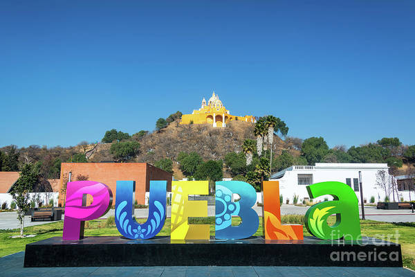 Wall Art - Photograph - Puebla Sign In Cholula, Mexico by Jess Kraft