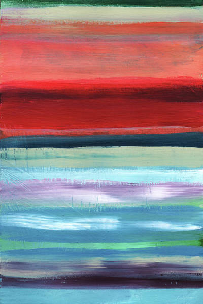 California Landscape Painting - Pueblo- Abstract Art By Linda Woods by Linda Woods