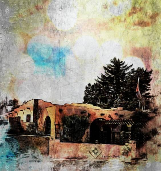 Arch Mixed Media - Pueblo Adobe by Lenore Senior