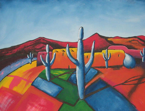 Wall Art - Painting - Pueblo by Antonio Romero