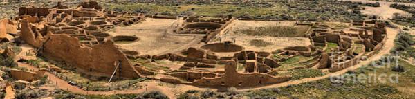Photograph - Pueblo Bonito Panorama At Chaco Canyon by Adam Jewell