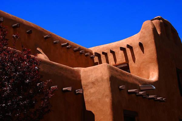 Photograph - Pueblo Revival Style Architecture In Santa Fe by Susanne Van Hulst