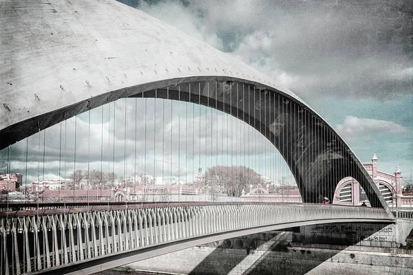 Photograph - Puente Del Matadero Madrid Spain Bleach Bypass by Joan Carroll