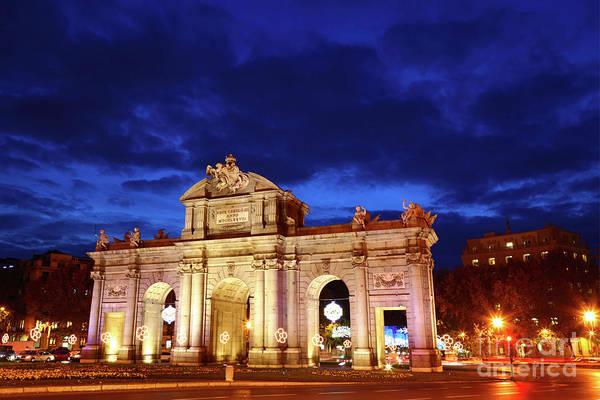Photograph - Puerta De Alcala Madrid Spain by James Brunker