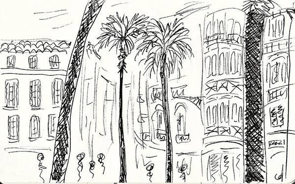 Drawing - Puerta Del Mar In Malaga by Chani Demuijlder