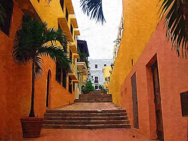 Photograph - Puerto Rico Ally Way by Donna Bentley