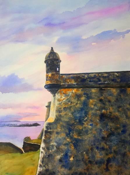 Wall Art - Painting - Puerto Rico Castillo San Felipe Del Morro by Carlin Blahnik CarlinArtWatercolor