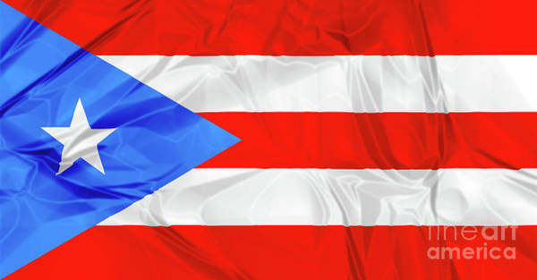 Photograph - Puerto Rico Flag by Benny Marty