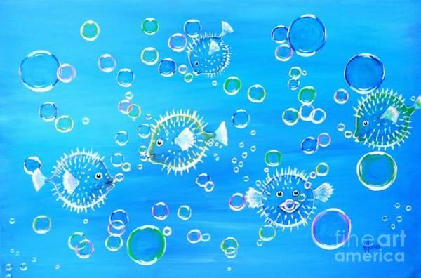 Painting - Pufferfish Playtime by Karen Jane Jones