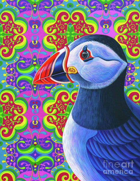 Wall Art - Painting - Puffin, 2018 by Jane Tattersfield