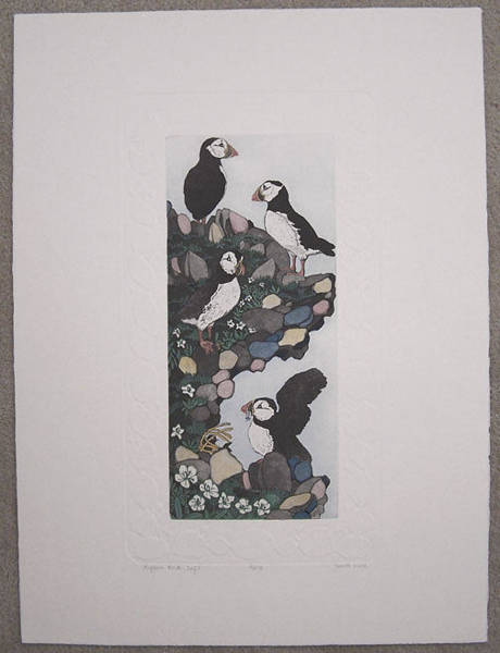 Wall Art - Painting - Puffin Rock Cafe by Judith Hall