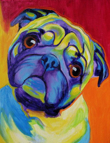 Wall Art - Painting - Pug - Lyle by Alicia VanNoy Call