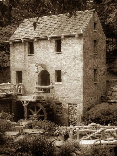 Photograph - Pughs Mill - North Little Rock Arkansas - Sepia by Gregory Ballos