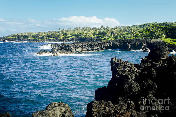Photograph - Pukaulua Point Waianapanapa North Pacific Ocean Hana Maui Hawaii by Sharon Mau