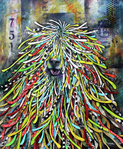 Mixed Media - Hungarian Sheepdog by Patricia Lintner
