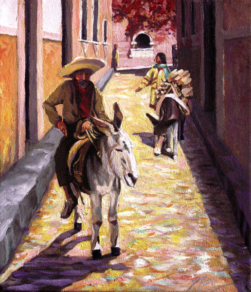 Pulling Up The Rear In Mexico Art Print