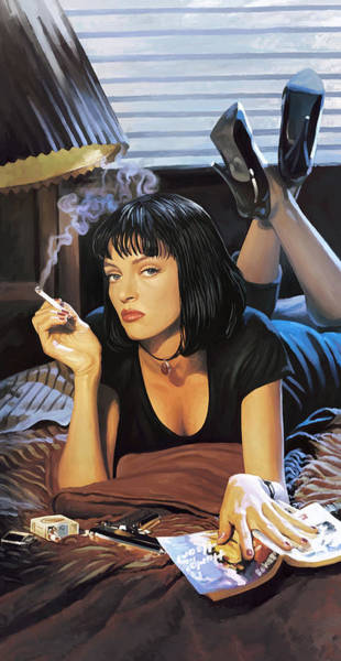 Wall Art - Painting - Pulp Fiction Artwork 2 by Sheraz A