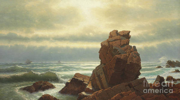 Outcrop Painting - Pulpit Rock, Nahant, 1865 by William Stanley Haseltine