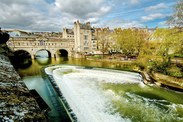 Bath Abbey Photograph - Pulteney And Weir by Greg Fortier