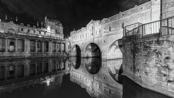 Photograph - Pulteney Bridge In Bath By Night by Jacek Wojnarowski