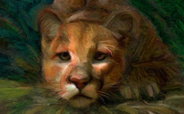 Digital Art - Puma 1 by Caito Junqueira