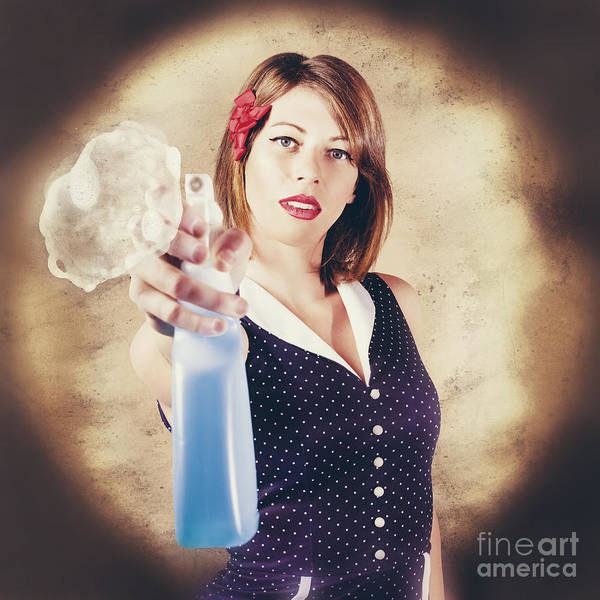 Wall Art - Photograph - Pump Action Pin Up Woman Killing Glass Grime by Jorgo Photography - Wall Art Gallery