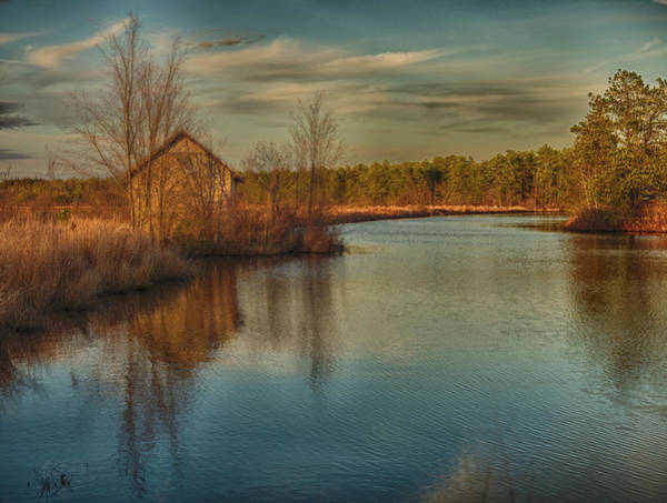 Photograph - Pump House On The Mullica River by Louis Dallara