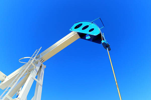 Wall Art - Photograph - Pump Jack And Clear Blue Sky by Jeff Swan