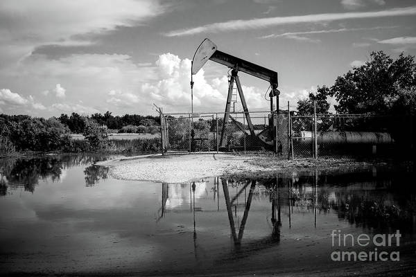 Photograph - Pump Jack In Bw  by Imagery by Charly