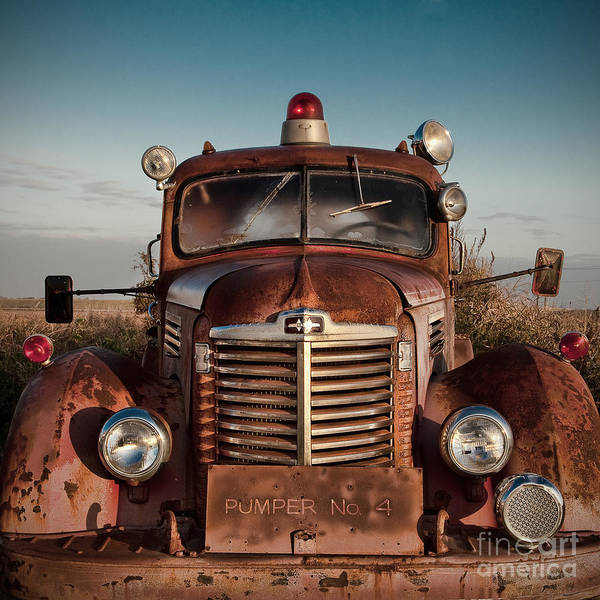 Photograph - Pumper No 4 Fire Truck In The Mississippi Delta by T Lowry Wilson