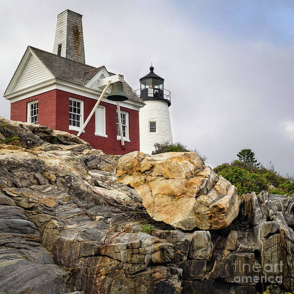 Photograph - Pumphouse And Tower, Pemaquid Light, Bristol, Maine  -18958 by John Bald