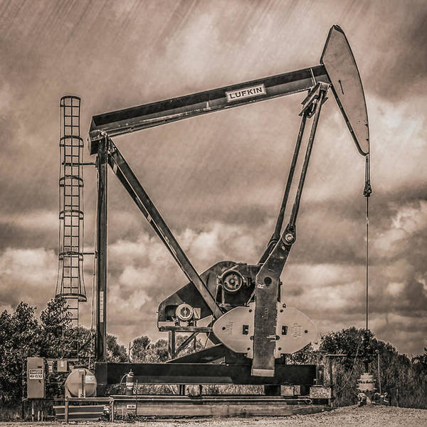 Photograph - Pumping Oil by Gregory Daley  MPSA