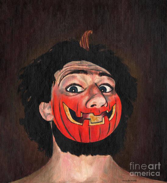 Pumpkinhead Wall Art - Painting - Pumpkin Head by Deanna Yildiz