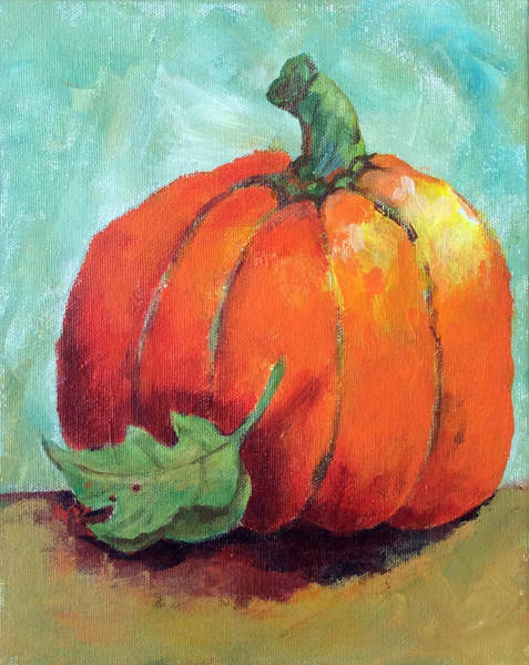 Painting - Pumpkin by Hilda Vandergriff