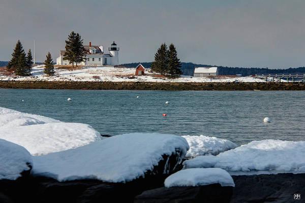 Photograph - Pumpkin Island Lighthouse by John Meader
