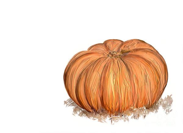 Digital Art - Pumpkin by Lois Bryan