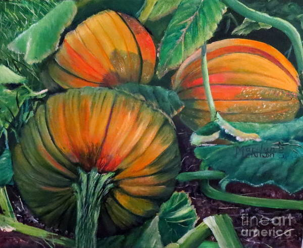 Painting - Pumpkin Patch by Marilyn McNish