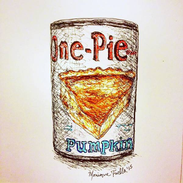 Drawing - Pumpkin Pie Can by Monique Faella