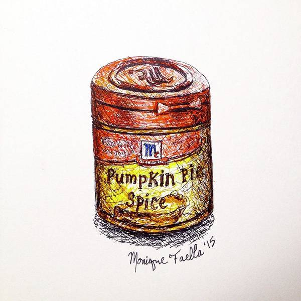 Drawing - Pumpkin Pie Spice by Monique Faella