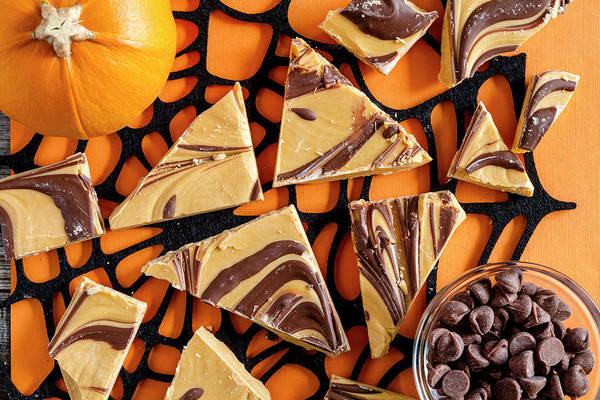 Photograph - Pumpkin Spice Halloween Candy Bark by Teri Virbickis